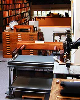 Bookbinding Room at the Havilah Press